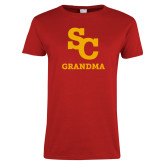 Ladies Red T Shirt-SC Grandma