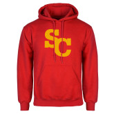 Red Fleece Hoodie-SC Interlocking