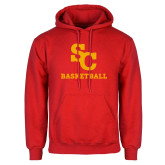 Red Fleece Hoodie-SC Basketball