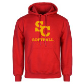 Red Fleece Hoodie-SC Softball