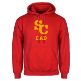 Red Fleece Hoodie-SC Dad