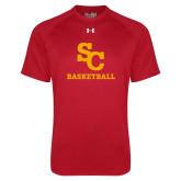 Under Armour Red Tech Tee-SC Basketball