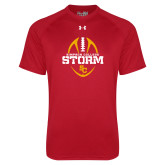 Under Armour Red Tech Tee-Storm Football Graphic