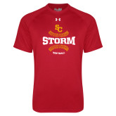 Under Armour Red Tech Tee-Storm Softball Graphic