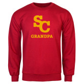 Red Fleece Crew-SC Grandpa