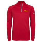 Under Armour Red Tech 1/4 Zip Performance Shirt-Storm Secondary Logo