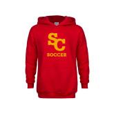 Youth Red Fleece Hoodie-SC Soccer