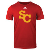Adidas Red Logo T Shirt-SC Interlocking