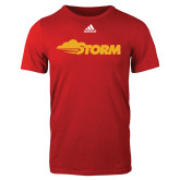 Adidas Red Logo T Shirt-Storm Secondary Logo