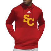 Adidas Red Team Issue Hoodie-SC Interlocking