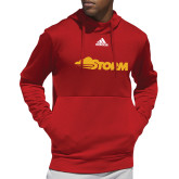 Adidas Red Team Issue Hoodie-Storm Secondary Logo