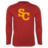 Performance Red Longsleeve Shirt-SC Interlocking