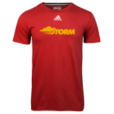 Adidas Climalite Red Ultimate Performance Tee-Storm Secondary Logo