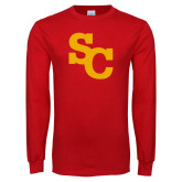 Red Long Sleeve T Shirt-SC Interlocking