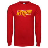 Red Long Sleeve T Shirt-Storm SC Graphic