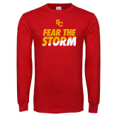 Red Long Sleeve T Shirt-SC Fear the Storm