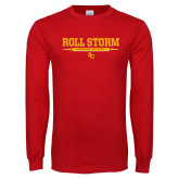 Red Long Sleeve T Shirt-Roll the Storm