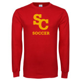 Red Long Sleeve T Shirt-SC Soccer
