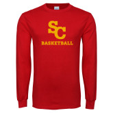 Red Long Sleeve T Shirt-SC Basketball