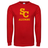 Red Long Sleeve T Shirt-SC Alumni