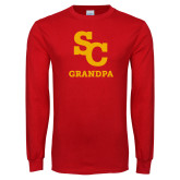 Red Long Sleeve T Shirt-SC Grandpa