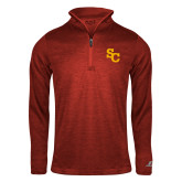 Russell Red Heather 1/4 Zip-SC Interlocking