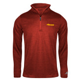 Russell Red Heather 1/4 Zip-Storm Secondary Logo