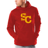 Under Armour Red Armour Fleece Hoodie-SC Interlocking
