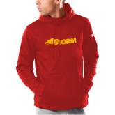 Under Armour Red Armour Fleece Hoodie-Storm Secondary Logo