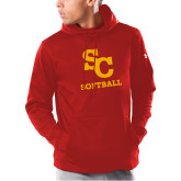 Under Armour Red Armour Fleece Hoodie-SC Softball