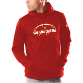 Under Armour Red Armour Fleece Hoodie-Simpson Football Graphic