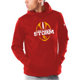 Under Armour Red Armour Fleece Hoodie-Storm Football Graphic