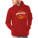 Under Armour Red Armour Fleece Hoodie-Siaimpson Basketball Graphic