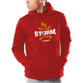 Under Armour Red Armour Fleece Hoodie-Storm Softball Graphic