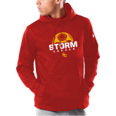 Under Armour Red Armour Fleece Hoodie-SC Soccer Graphic