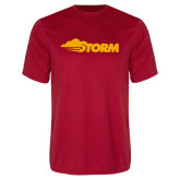 Performance Red Tee-Storm Secondary Logo