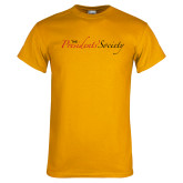 Gold T Shirt-The Presidents Society Logo