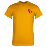 Gold T Shirt-SC Interlocking