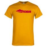 Gold T Shirt-Storm Secondary Logo
