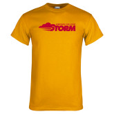 Gold T Shirt-Simpson College Storm Logo