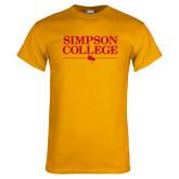 Gold T Shirt-Simpson College Flat Word Mark