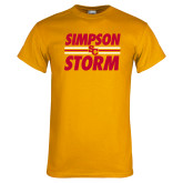 Gold T Shirt-Simpson Storm Lines Graphic