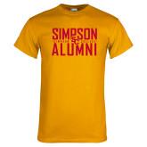 Gold T Shirt-Simposon Alumni Stacked