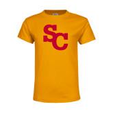 Youth Gold T Shirt-SC Interlocking