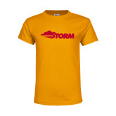 Youth Gold T Shirt-Storm Secondary Logo