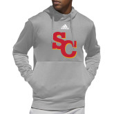 Adidas Grey Team Issue Hoodie-SC Interlocking