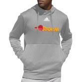 Adidas Grey Team Issue Hoodie-Storm Secondary Logo