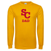 Gold Long Sleeve T Shirt-SC Dad