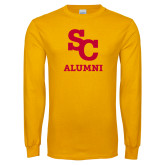Gold Long Sleeve T Shirt-SC Alumni