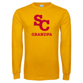 Gold Long Sleeve T Shirt-SC Grandpa
